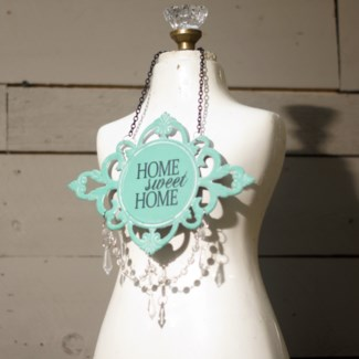 |MTL. JEWELED SIGN 'HOME SWEET HOME' (96/cs)|