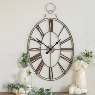 MTL. FRAMED CLOCK  (2/cs)