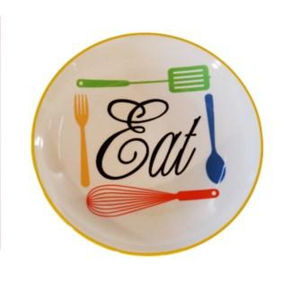 |CERAMIC PLATE 'EAT' (30/cs)|