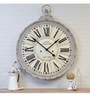 MTL. WALL CLOCK GRAY