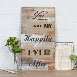 |WD. SIGN HAPPILY EVER AFTER (6/cs)|