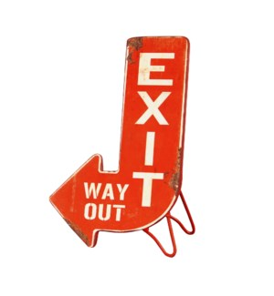 |MTL. STANDING EXIT SIGN|