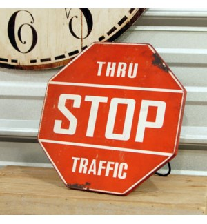 |MTL. STANDING STOP SIGN|