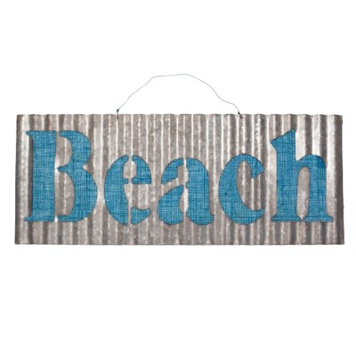 |MTL. CORRUGATED BEACH SIGN (24/cs)|