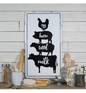 |MTL. SIGN W/ ANIMALS|