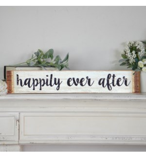 "|WD. SIGN ""HAPPILY EVER AFTER""