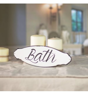 "MTL. SIGN ""BATH"""