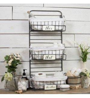 |MTL. TIERED SHELF W/BASKETS|
