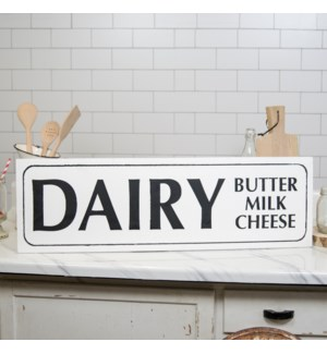 "|MTL. SIGN ""DAIRY""