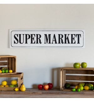 "|MTL. WORD ART ""SUPER MARKET""