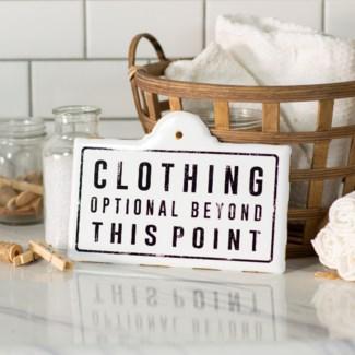 "MTL. SIGN ""CLOTHING"" (48/cs)"