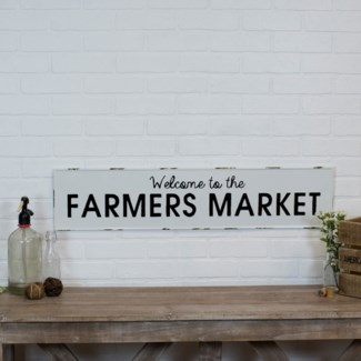 "MTL. SIGN ""FARMERS MARKET"" (8/cs)"