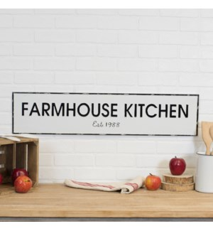 "|MTL. SIGN ""FARMHOUSE KITCHEN""