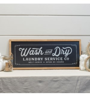 |WD./MTL. LAUNDRY SIGN|