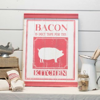 "WD. SIGN ""BACON"" (4/cs)"