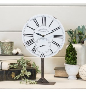 |MTL. TABLE CLOCK WHITE|