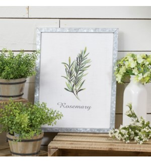 "|MTL. FRAMED SIGN ""ROSEMARY""