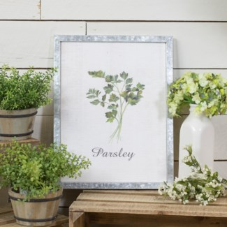 "MTL. FRAMED SIGN ""PARSLEY"" (12/cs)"