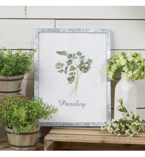 "MTL. FRAMED SIGN ""PARSLEY"""