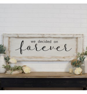 "WD. SIGN ""FOREVER"""