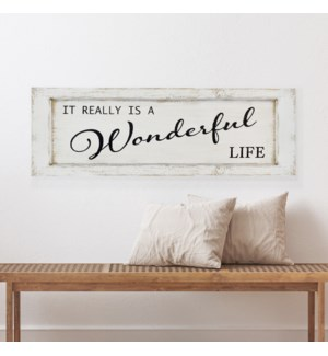 "WD. SIGN ""WONDERFUL LIFE"""