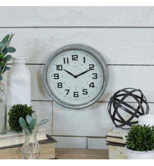 |MTL. FRAMED WALL CLOCK|