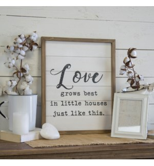 """WD. SIGN """"LOVE GROWS"""""""
