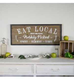 """ WD. SIGN """"EAT LOCAL"""" """