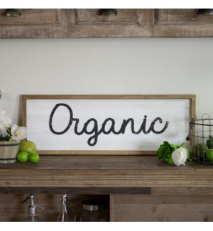 "WD. WORD ART ""ORGANIC"""