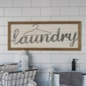 """WD. SIGN """"LAUNDRY"""""""