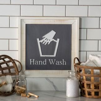 "WD. SIGN ""HAND WASH"" (6/cs)"