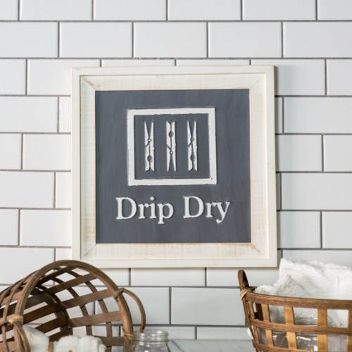 "WD. SIGN ""DRIP DRY"""