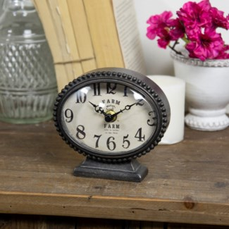 MTL. TABLE CLOCK (16/cs)