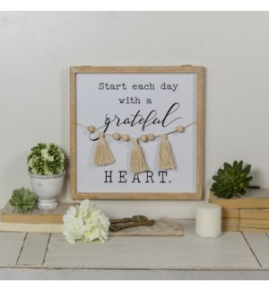 "WD. SIGN ""GRATEFUL HEART"""