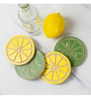 WD. LEMONADE COASTERS SET/4