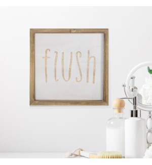 "WD. SIGN ""FLUSH"""