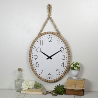 WALL CLOCK W/ BEADS (1/cs)