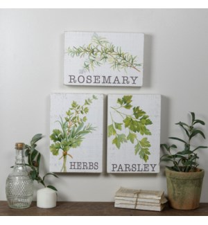 |WD. SIGNS HERBS SET/3|