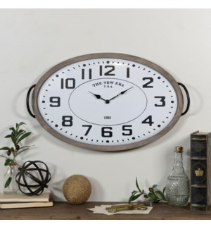 |MTL. OVAL WALL CLOCK|