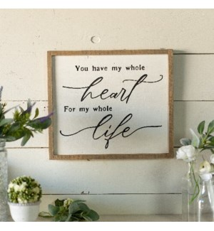 "WD. SIGN ""WHOLE HEART"""