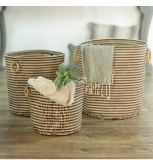 CANVAS LAUNDRY BASKET S/3