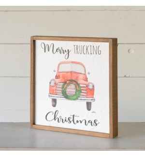 "|WD. SIGN ""MERRY TRUCKING CHRISTMAS""