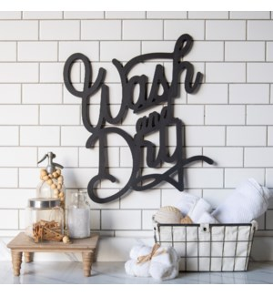 "WD. WORD ART ""WASH & DRY"""