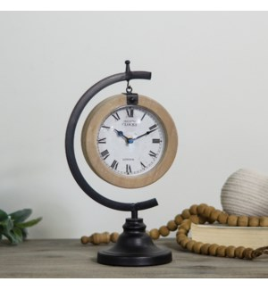 MTL./WD. TABLE CLOCK