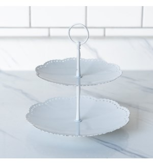 MTL. TWO TIERED TRAY
