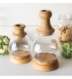 GLASS/WD. JARS SET/2