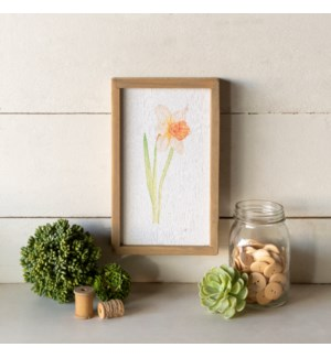 |WD. FRAMED FLOWER ART|