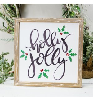 "WD. SIGN ""HOLLY JOLLY"""