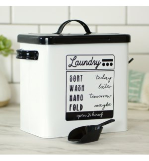 MTL. LAUNDRY SOAP CONTAINER