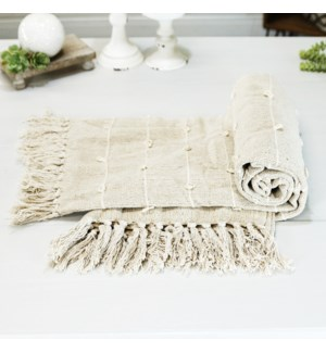 COTTON THROW BEIGE